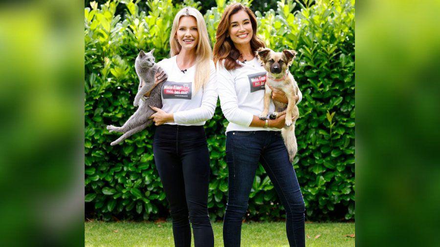 Mirja du Mont und Jana Ina Zarrella mit ihren geliebten Haustieren.  (spot)