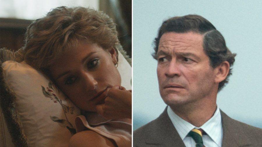 """Elizabeth Debicki als Prinzessin Diana und Dominic West als Prinz Charles in """"The Crown"""". (stk/spot)"""
