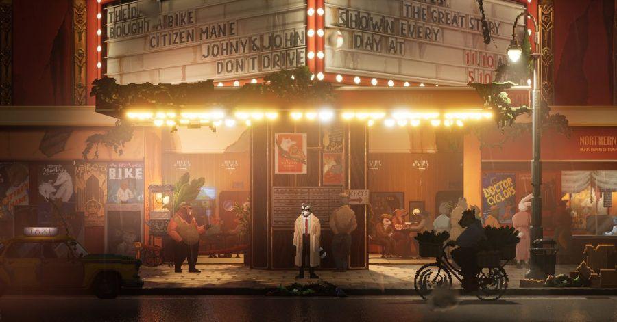 Der Glanz der großen und düsteren Stadt ist in «Backbone» grafisch sehr schön in Szene gesetzt.