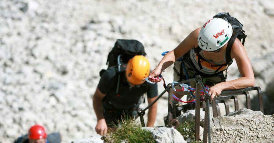 Klettersteige liegen im Trend - wichtig ist eine vernünftige Selbsteinschätzung.