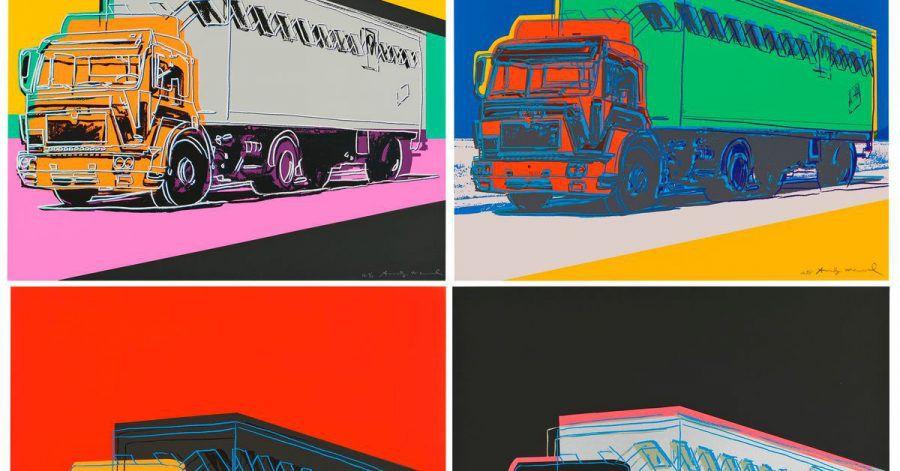 Die Druckgrafiken der «Truck Series» von Andy Warhol sollen nach Angaben des Auktionshauses Christie's im September gezeigt und online versteigert werden (undatiert).