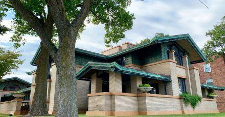 Dana Thomas House in Springfield: Frank Lloyd Wright gestaltete hier das Haus einer Society Lady neu.