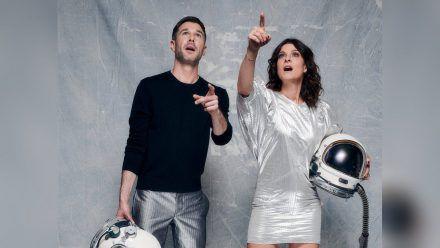 """""""Promi Big Brother"""": Jochen Schropp und Marlene Lufen führen durch die Sendung. (cg/spot)"""