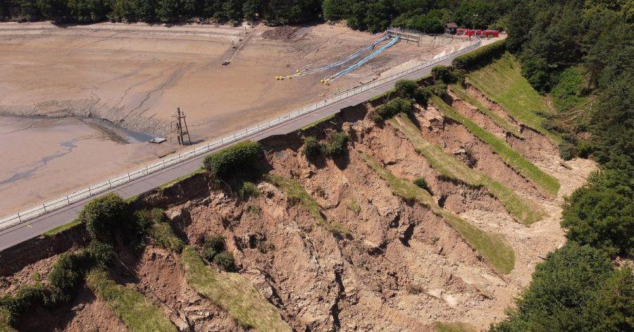 An der Steinbachtalsperre hat das Hochwasser im Juli starke Schäden verursacht.