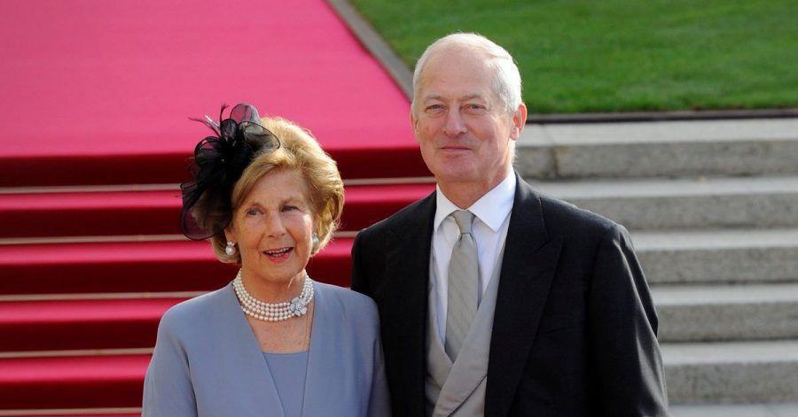 Fürstin Marie an der Seite ihres Mannes Fürst Hans-Adam II. (2012).