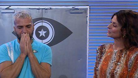 """Rafi Rachek mit Moderatorin Marlene Lufen direkt nach seinem Aus bei """"Promi Big Brother"""". (wue/spot)"""