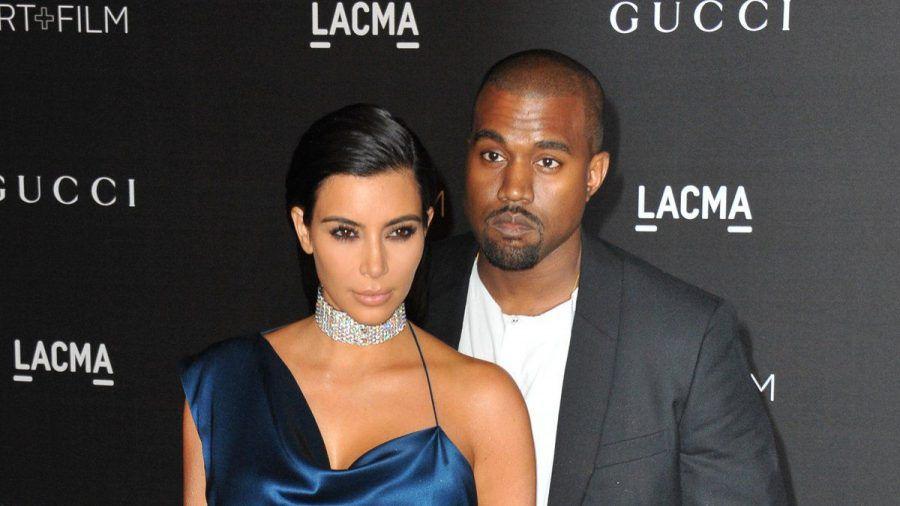 Kim Kardashian und Kanye West bei einem gemeinsamen Auftritt in Los Angeles. (hub/spot)