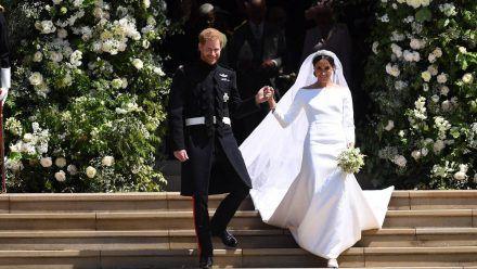Prinz Harry und Herzogin Meghan bei ihrer Hochzeit 2018. (hub/spot)