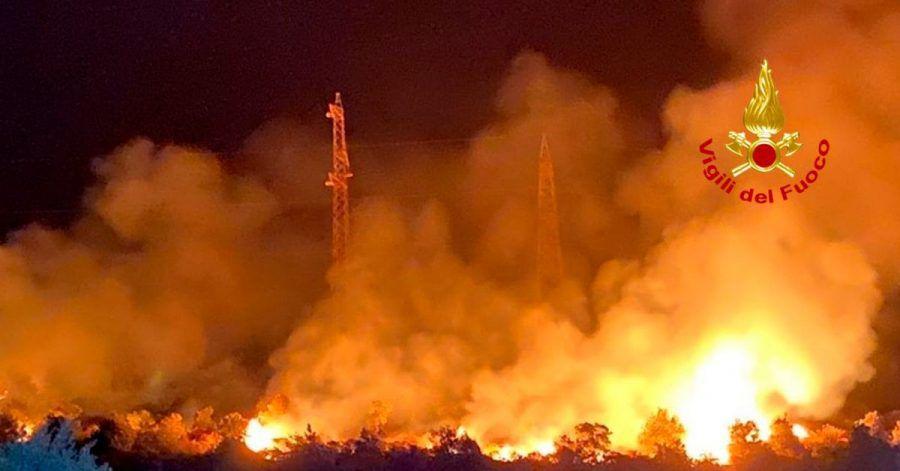 Italien wird von Waldbränden heimgesucht.