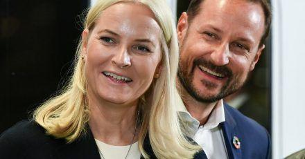 Haakon, Kronprinz von Norwegen, und Kronprinzessin Mette-Marit 2019 in Berlin.