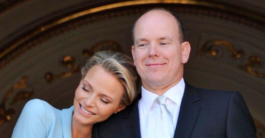 Ganz eng: Fürstin Charlène und ihr Mann Albert II.