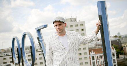 Schauspieler Sebastian Bezzel in Berlin.
