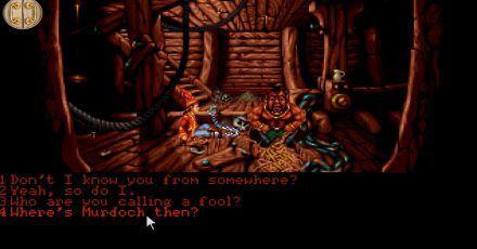 Simon gerät im gleichnamigen Spiel «Simon the Sorcerer» in eine magische Welt und muss den bösen Zauberer Sordid besiegen.