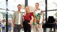 """Die """"DSDS""""-Jury mit Toby Gad (r.), Ilse DeLange und Florian Silbereisen.  (hub/spot)"""