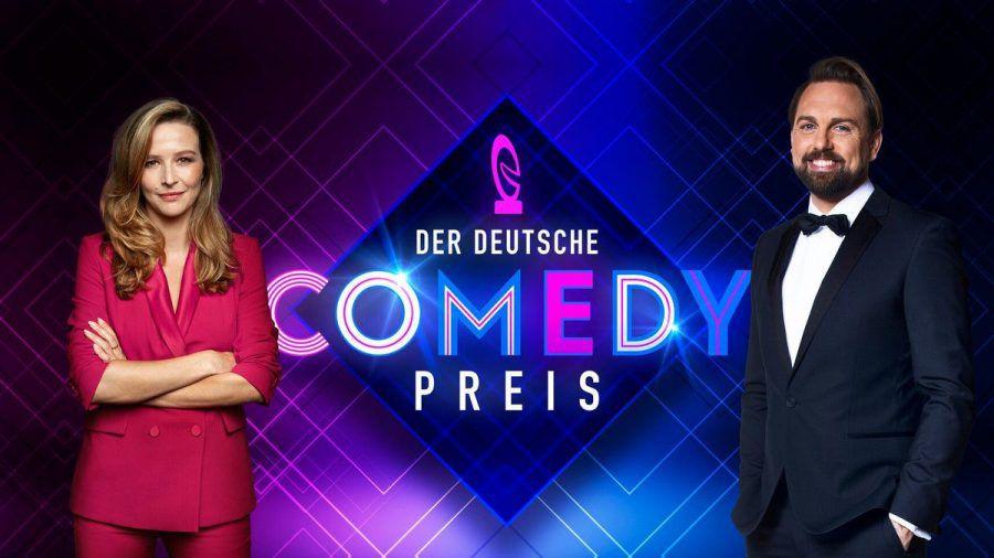 Katrin Bauerfeind und Steven Gätjen moderieren den Deutschen Comedypreis. (smi/spot)