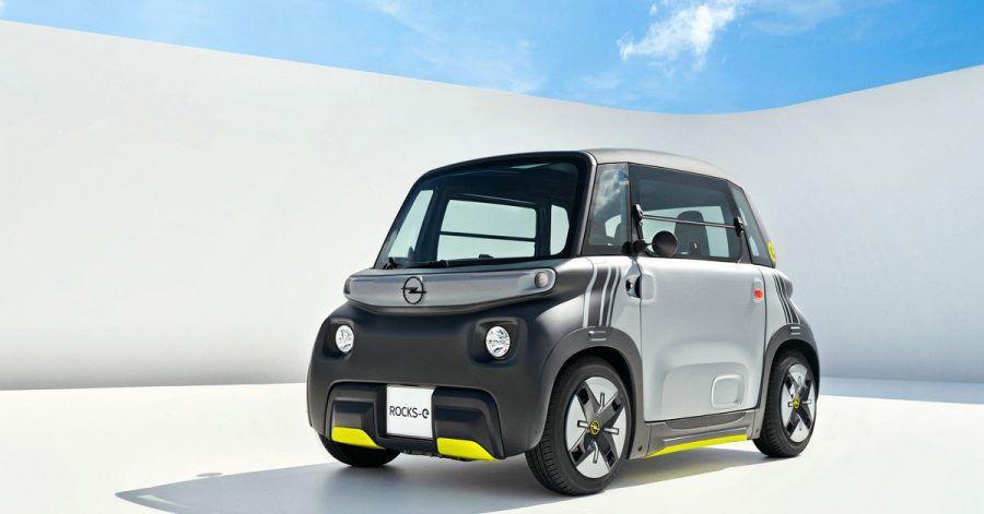 Kantig oder eher knuddelig? Das liegt im Auge des Betrachters. Auf jeden Fall bietet Opel mit dem maximal 45 km/h schnellen Rocks-e demnächst eine neue elektrische Mobilitätsvariante an.