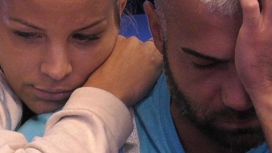 "Ina Aogo tröstet Rafi Rachek bei ""Promi Big Brother"" (wue/spot)"