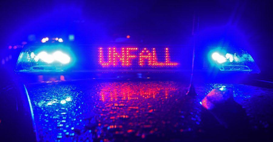 Ein Blaulicht auf einem Einsatzfahrzeug.