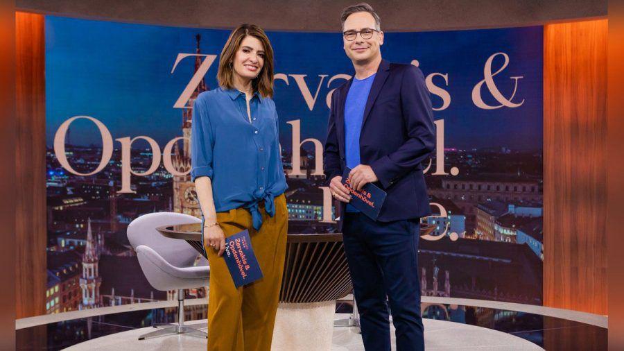 "Das Journal ""Zervakis & Opdenhövel. Live."" startet am 13. September 2021. Linda Zervakis und Matthias Opdenhövel beschäftigen sich dann jede Woche zwei Stunden mit aktuellen Themen.  (hub/spot)"