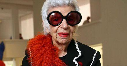 Die US-Designerin und Mode-Ikone Iris Apfel wird 100.