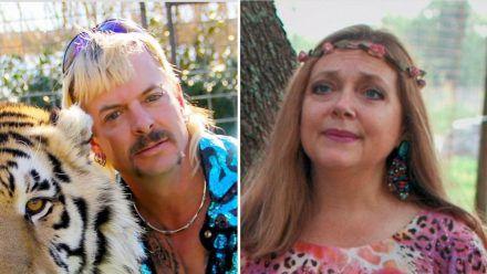"Ewige Feinde: Joe ""Tiger King"" Exotic und Carole Baskin. (stk/spot)"