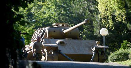 Der 84 Jahre alte Eigentümer dieses Panzers ist zu einer Bewährungstrafe verurteilt worden (Archivbild von 2015).
