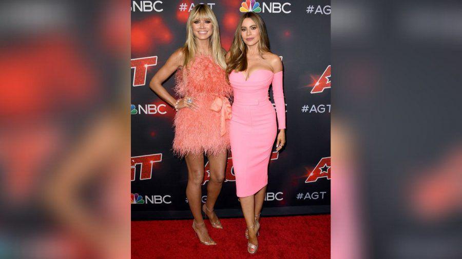 """Heidi Klum und Sofia Vergara auf dem roten Teppich der """"America's Got Talent""""-Liveshows. (hub/spot)"""