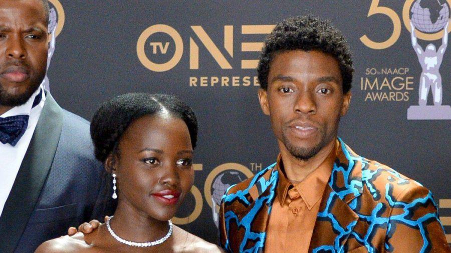 Chadwick Boseman und Lupita Nyong'o bei einer Preisverleihung im März 2019. (ncz/spot)