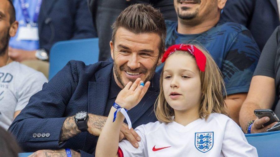 Harper Beckham: Rutschpartie mit Papa David