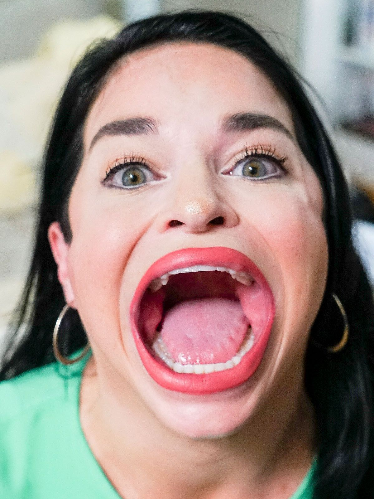 Samantha Ramsdell hat den größten Mund der Welt