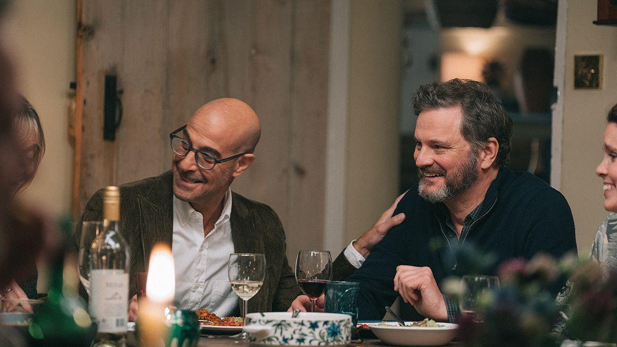 """Colin Firth und Stanley Tucci als Paar in dem Demenz-Drama """"Supernova"""""""
