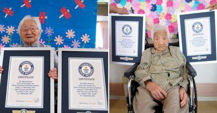 Die Schwestern Umeno Sumiyama (l) und Koume Kodama leben in verschiedenen Pflegeheimen auf der Insel Shodoshima und in der Präfektur Oita.