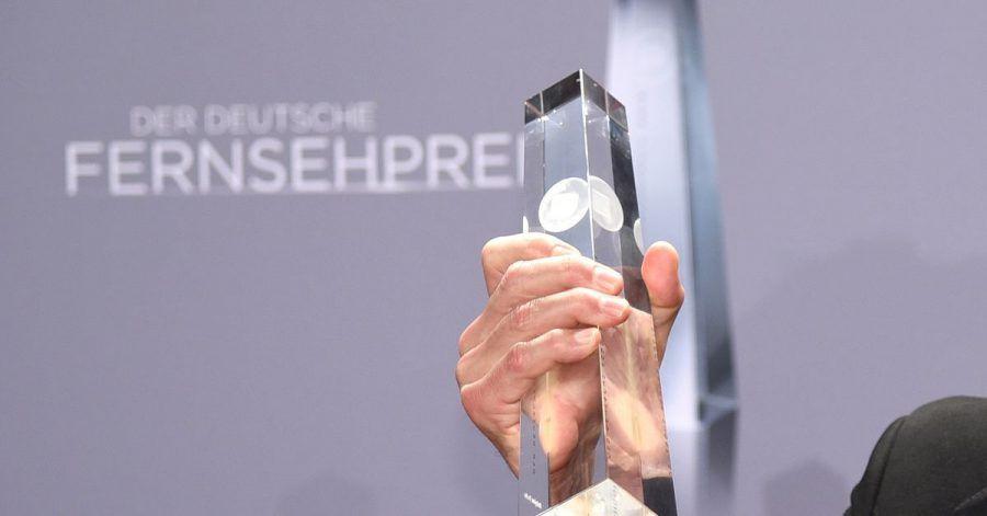 So sieht die Trophäe des Deutschen Fernsehpreises aus.