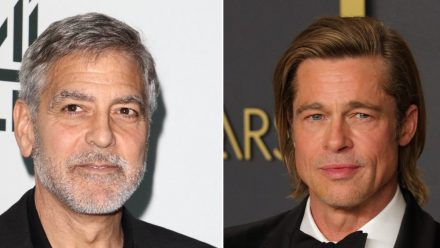George Clooney (l.) und Brad Pitt standen schon mehrmals gemeinsam vor der Kamera. (wag/spot)