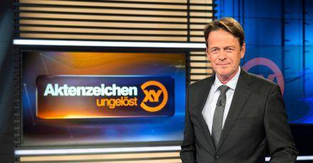 Rudi Cerne im Studio der Sendung «Aktenzeichen XY ... ungelöst».