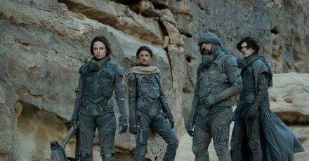 Rebecca Ferguson (l-r), Zendaya, Javier Bardem und Timothée Chalamet gehören zur hochkarätigen Besetzung von «Dune».