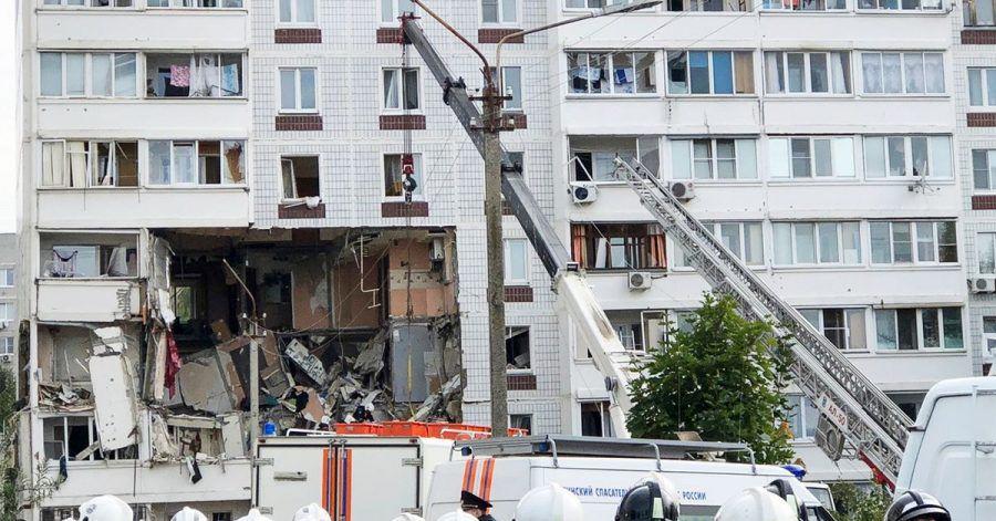 Rettungskräfte am Ort der Gasexplosion in Noginsk.