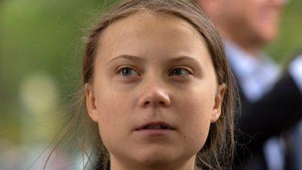 Greta Thunberg bei einem Auftritt in Washington. (hub/spot)