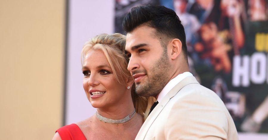 "Britney Spears und Sam Asghari 2019 bei der Premiere von ""Once Upon a Time in Hollywood"" in Los Angeles."