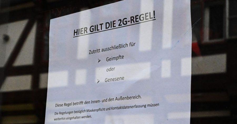 In diesem Cafe gilt die 2G-Regel.