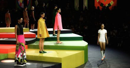 Models präsentieren während der Fashion Week die Kreationen der Frühjahr/Sommer Kollektion von Dior.