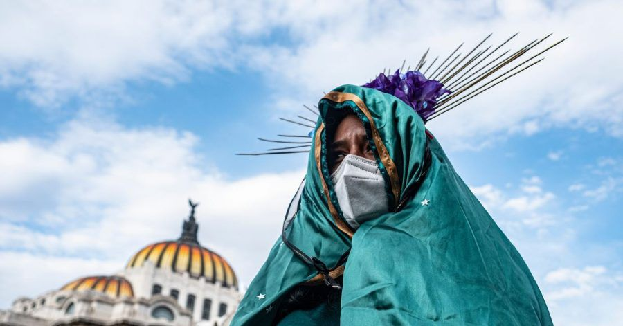 2020 gingenFrauen für ein Recht auf Abtreibung in Mexiko-Stadt auf die Straße.