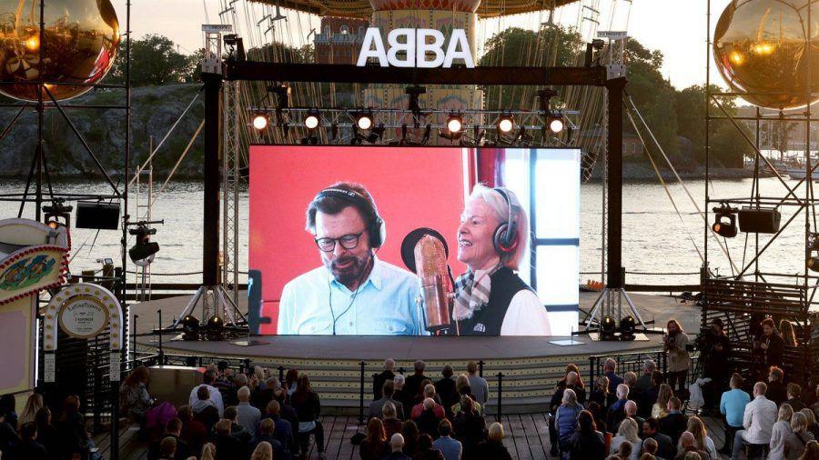 Ein Bild von einem Event zur Ankündigung des neuen ABBA-Albums in Stockholm. (wue/spot)