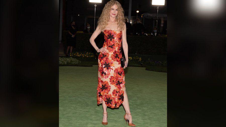 Nicole Kidman in ihrem floralen Kleid. (jom/spot)