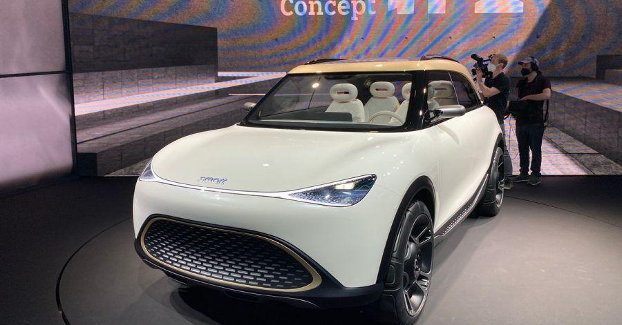 Weiche Formen: Smart präsentiert mit dem Concept #1 in München einen Ausblick auf das elektrische Serien-SUV, das in einem Jahr starten soll.