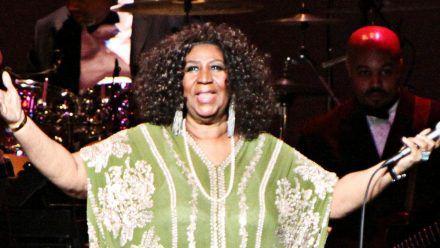 Aretha Franklin während eines Auftritts in Atlanta. (hub/spot)