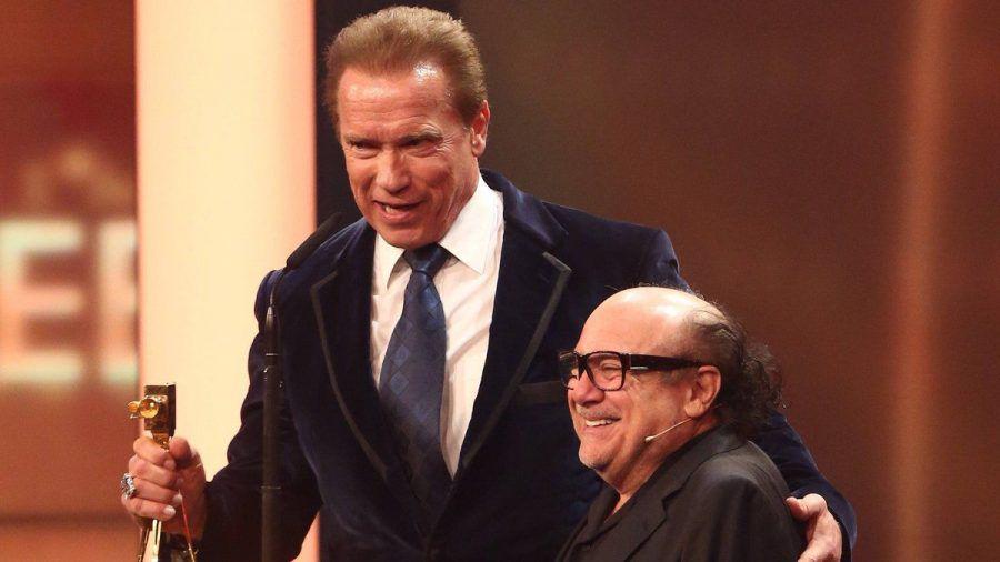 Arnold Schwarzenegger und Danny DeVito bei einem gemeinsamen Auftritt. (hub/spot)