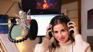 """Sarah Engels bei den Aufnahmen zu """"Miraculous: Ladybug & Cat Noir"""". (stk/spot)"""