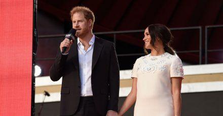 Prinz Harry und seine Frau Meghan sprechen sich für Impfgerechtigkeit in der Corona-Pandemie aus.