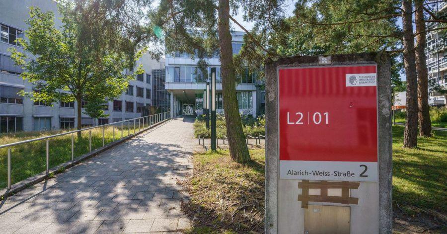 Blick auf den Campus Lichtwiese der TU Darmstadt.